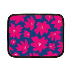 Flower Red Blue Netbook Case (small)