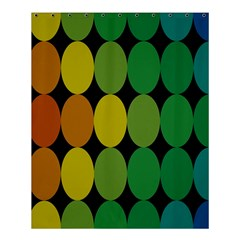 Geometry Round Colorful Shower Curtain 60  X 72  (medium)