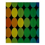 Geometry Round Colorful Shower Curtain 60  x 72  (Medium)  54.25 x65.71 Curtain