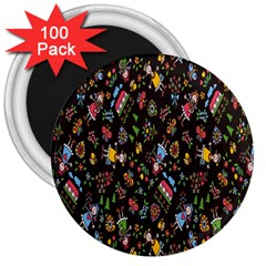 Happy Family Flower Home Sweet Bee 3  Magnets (100 Pack)