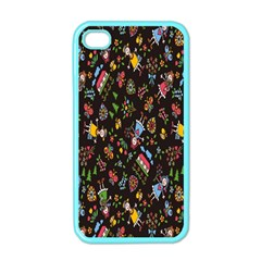 Happy Family Flower Home Sweet Bee Apple Iphone 4 Case (color)