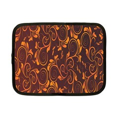 Gold Flower Netbook Case (small)