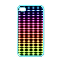Halftone Pattern Rainbow Apple Iphone 4 Case (color)
