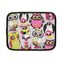 Illustration Seamless Colourful Owl Pattern Netbook Case (small)
