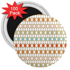 Lab Pattern Hexagon Multicolor 3  Magnets (100 Pack)
