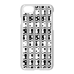 Line Black Apple Iphone 7 Seamless Case (white)