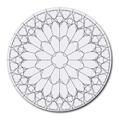 Roses Stained Glass Round Mousepads