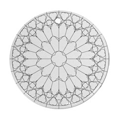Roses Stained Glass Ornament (round)