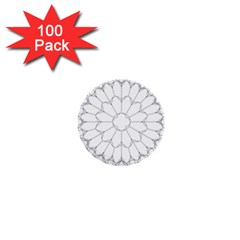 Roses Stained Glass 1  Mini Buttons (100 Pack)