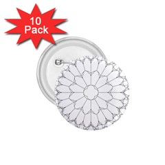 Roses Stained Glass 1 75  Buttons (10 Pack)