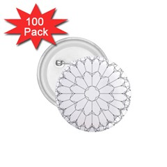 Roses Stained Glass 1 75  Buttons (100 Pack)