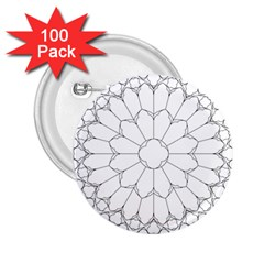 Roses Stained Glass 2 25  Buttons (100 Pack)