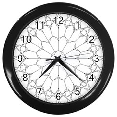 Roses Stained Glass Wall Clocks (black)