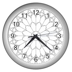 Roses Stained Glass Wall Clocks (silver)