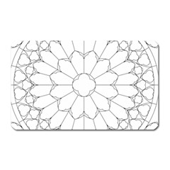 Roses Stained Glass Magnet (rectangular)