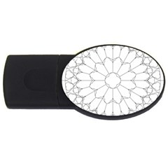 Roses Stained Glass USB Flash Drive Oval (2 GB)