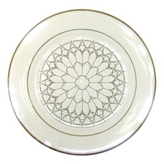 Roses Stained Glass Porcelain Plates