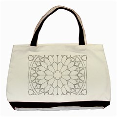 Roses Stained Glass Basic Tote Bag