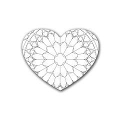 Roses Stained Glass Heart Coaster (4 Pack)