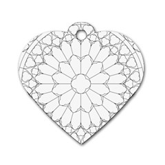 Roses Stained Glass Dog Tag Heart (one Side)