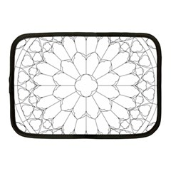 Roses Stained Glass Netbook Case (medium)