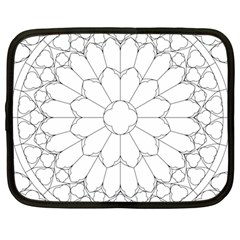 Roses Stained Glass Netbook Case (large)