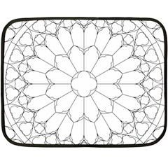 Roses Stained Glass Fleece Blanket (mini)