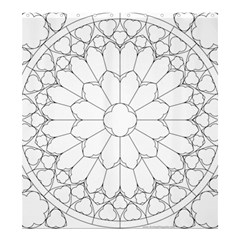 Roses Stained Glass Shower Curtain 66  X 72  (large)