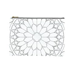 Roses Stained Glass Cosmetic Bag (large)
