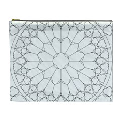 Roses Stained Glass Cosmetic Bag (xl)