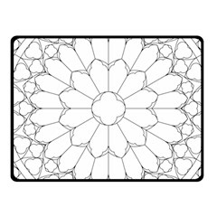 Roses Stained Glass Fleece Blanket (small)