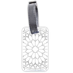 Roses Stained Glass Luggage Tags (one Side)