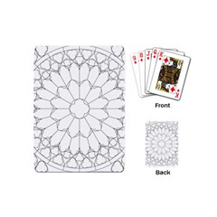 Roses Stained Glass Playing Cards (Mini)