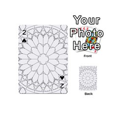 Roses Stained Glass Playing Cards 54 (mini)