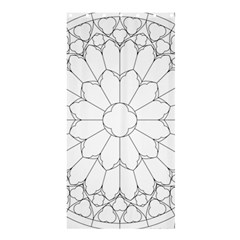 Roses Stained Glass Shower Curtain 36  X 72  (stall)