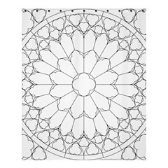 Roses Stained Glass Shower Curtain 60  X 72  (medium)
