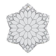 Roses Stained Glass Ornament (snowflake)