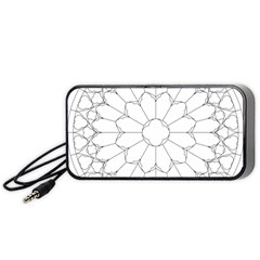 Roses Stained Glass Portable Speaker (black)