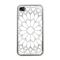 Roses Stained Glass Apple Iphone 4 Case (clear)