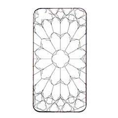 Roses Stained Glass Apple Iphone 4/4s Seamless Case (black)