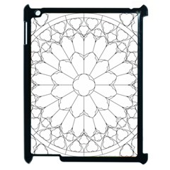 Roses Stained Glass Apple Ipad 2 Case (black)