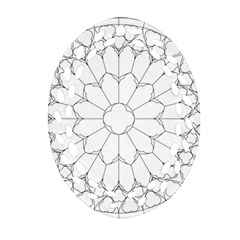 Roses Stained Glass Ornament (oval Filigree)