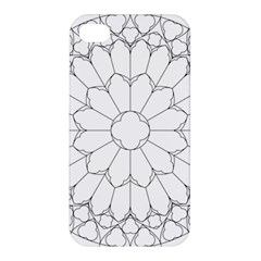 Roses Stained Glass Apple Iphone 4/4s Hardshell Case