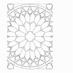 Roses Stained Glass Small Garden Flag (two Sides)