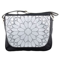 Roses Stained Glass Messenger Bags