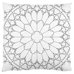 Roses Stained Glass Large Cushion Case (two Sides)