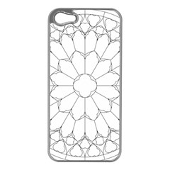 Roses Stained Glass Apple Iphone 5 Case (silver)