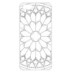 Roses Stained Glass Apple Iphone 5 Seamless Case (white)