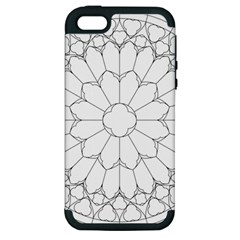 Roses Stained Glass Apple Iphone 5 Hardshell Case (pc+silicone)