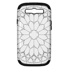 Roses Stained Glass Samsung Galaxy S Iii Hardshell Case (pc+silicone)
